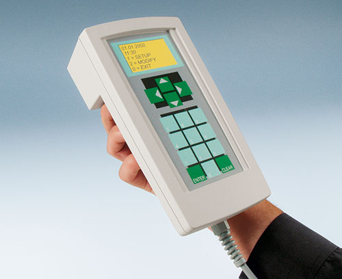 Heavy duty handheld enclosures for machine controllers