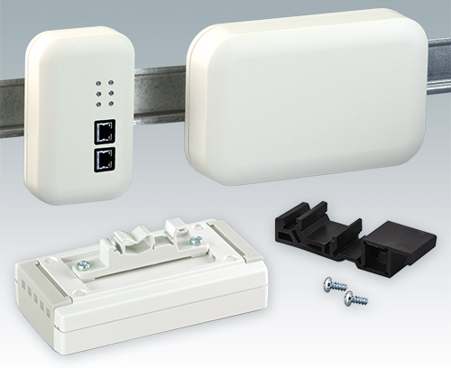 Enclosures DIN rail adapters