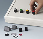 Combinations knobs with accessories, e.g. covers, disks etc.
