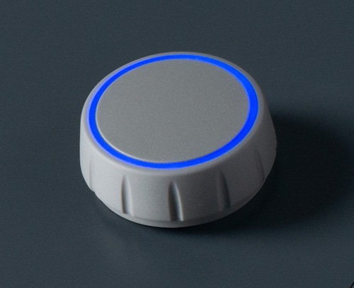 CONTROL-KNOBS with optional illumination on the top surface