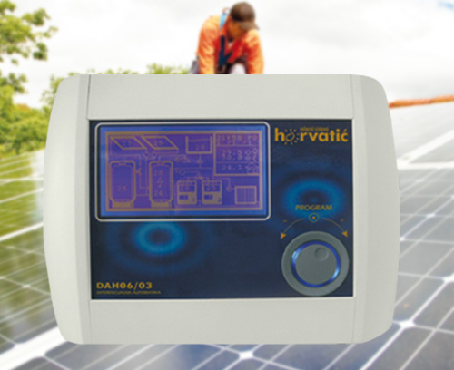 Control unit for photovoltaic solar installations