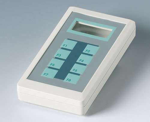 Recessed operating area for protecting the membrane keypad