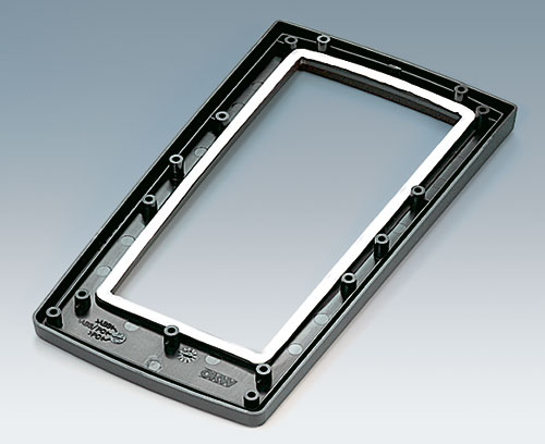 Top part for aluminum front panel assembly with sealing