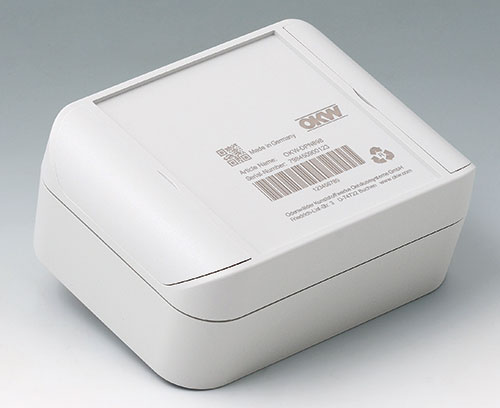 SMART-BOX made of ASA+PC-FR (UL 94 V-0), light gray with laser marking