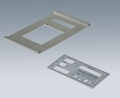 Aluminum plate with cutouts