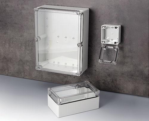 IN-BOX polycarbonate enclosures with transparent lids