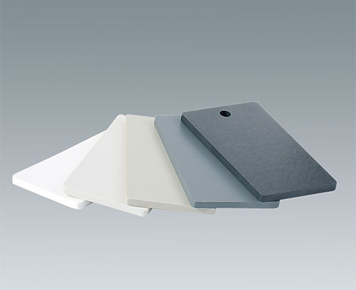Plastic panels in different colors and materials available