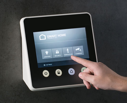 Application example: wall-mounted enclosure with touchscreen