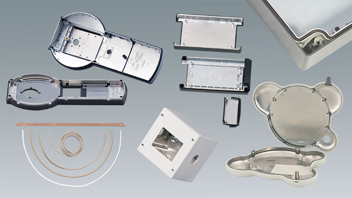 RFI/EMI shielding: Aluminum coating & accessories