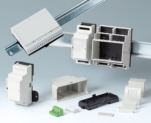 Versatile DIN rail enclosures