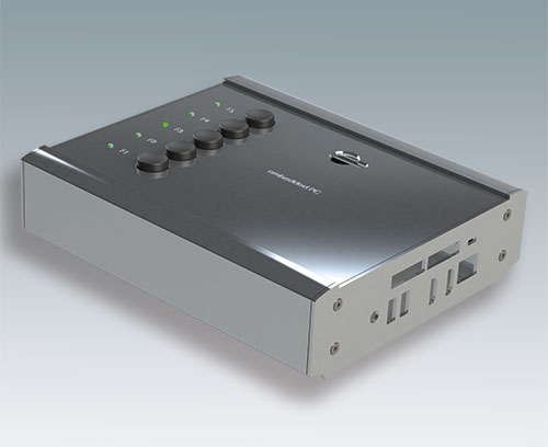 Aluminum end plate (ordered when specifying a SMART-TERMINAL enclosure from individual parts)