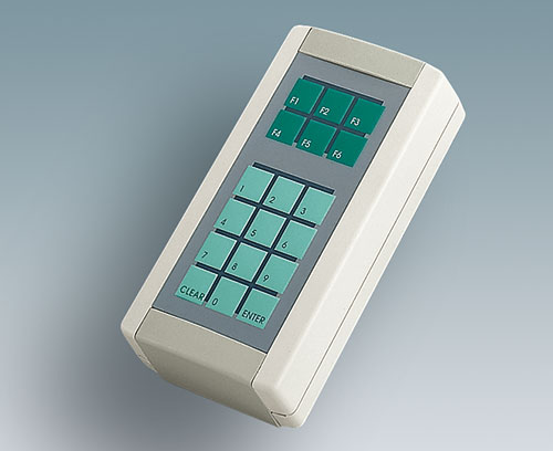 Recessed operating area for a membrane keypad