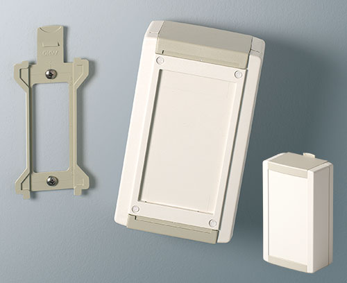 Hidden wall mounting clip (wall suspension element as accessory)