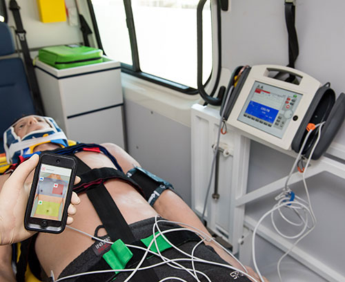 qube3 Patient Simulation System in use